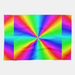 Prisma de neón del arco iris toalla de mano