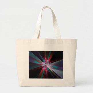 Prisma del electrón, fractal hermoso bolsa tela grande