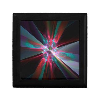 Prisma del electrón, fractal hermoso joyero cuadrado pequeño