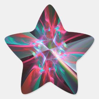 Prisma del electrón, fractal hermoso pegatina en forma de estrella