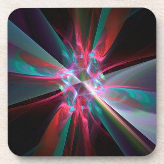 Prisma del electrón, fractal hermoso posavasos de bebidas