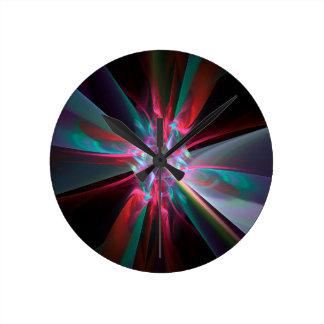 Prisma del electrón, fractal hermoso reloj redondo mediano