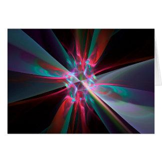 Prisma del electrón, fractal hermoso tarjeta de felicitación