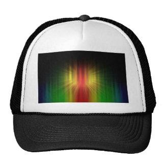 Prisma fresca abstracta de líneas ligeras gorras