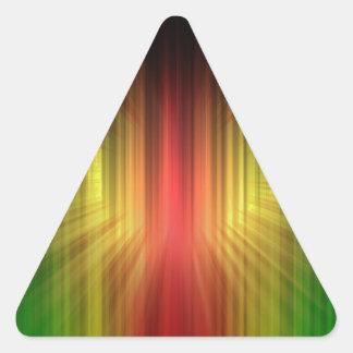 Prisma fresca abstracta de líneas ligeras pegatina triangular