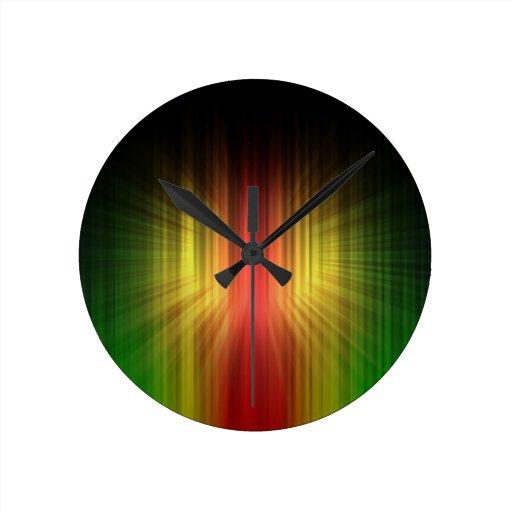 Prisma fresca abstracta de líneas ligeras reloj