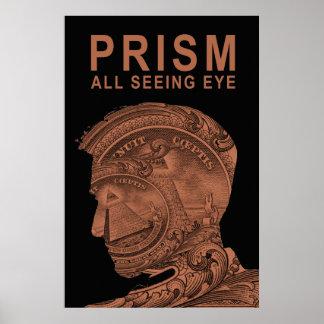 PRISMA - todo el naranja del ojo que ve Posters