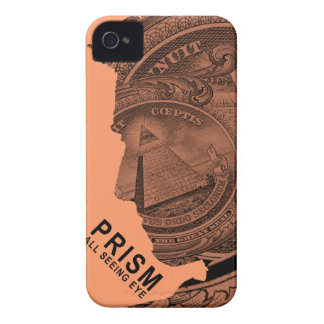PRISMA - todo el ojo que ve - albaricoque iPhone 4 Cárcasa