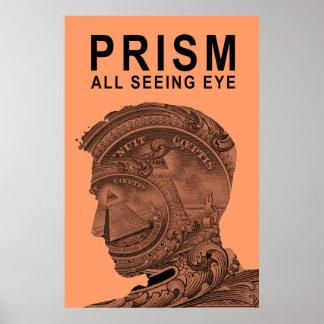 PRISMA - todo el ojo que ve - albaricoque Póster