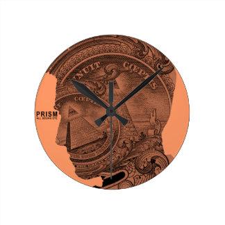 PRISMA - todo el ojo que ve - albaricoque Reloj Redondo Mediano