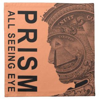 PRISMA - todo el ojo que ve - albaricoque Servilletas Imprimidas