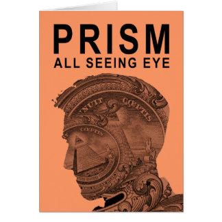 PRISMA - todo el ojo que ve - albaricoque Tarjeta De Felicitación