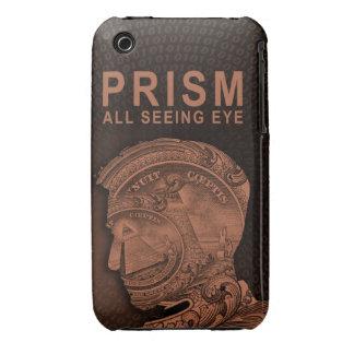 PRISMA - todo el ojo que ve - naranja iPhone 3 Protectores