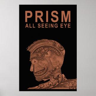 PRISMA - todo el ojo que ve - naranja Posters