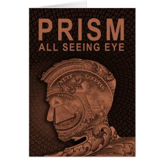 PRISMA - todo el ojo que ve - naranja Tarjeta De Felicitación