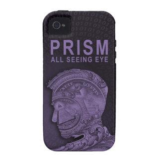 PRISMA - todo el ojo que ve - púrpura Case-Mate iPhone 4 Carcasas