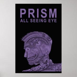PRISMA - todo el ojo que ve - púrpura Posters