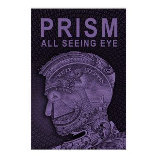 PRISMA - todo el ojo que ve - púrpura Poster