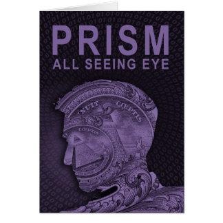 PRISMA - todo el ojo que ve - púrpura Tarjeta De Felicitación