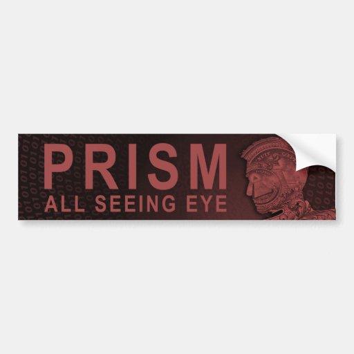 PRISMA - todo el ojo que ve - rojo Etiqueta De Parachoque