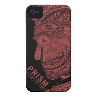 PRISMA - todo el ojo que ve - rojo iPhone 4 Cárcasa
