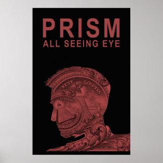 PRISMA - todo el ojo que ve - rojo Posters