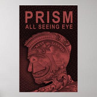 PRISMA - todo el ojo que ve - rojo Poster