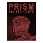 PRISMA - todo el ojo que ve - rojo Tarjeta Postal
