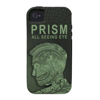 PRISMA - todo el ojo que ve - verde Vibe iPhone 4 Carcasa