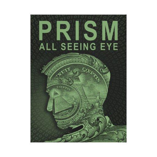 PRISMA - todo el ojo que ve - verde Lienzo Envuelto Para Galerias