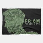 PRISMA - todo el ojo que ve - verde Toallas De Mano