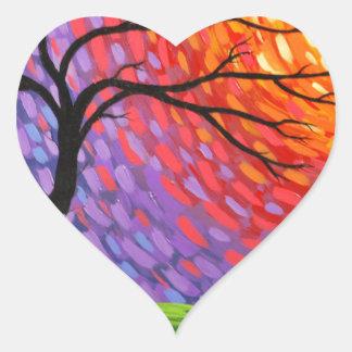 Prismatic Awakening.jpg Heart Sticker