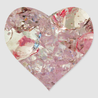 Prismatic  collection heart stickers