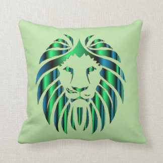 Prismatic Colorful Lion Head, Novelty Throw Pillow