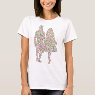 Prismatic Couple Holding company Hands Silhouette T-Shirt
