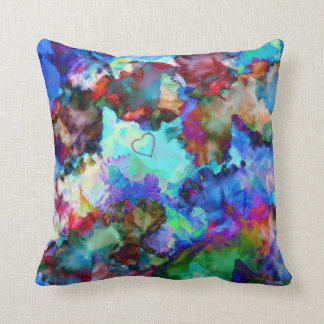 Prismatic Floral Collage  - Throw Pillow