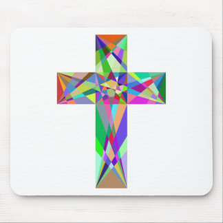 Prismatic Geometric Cross Mouse Pad
