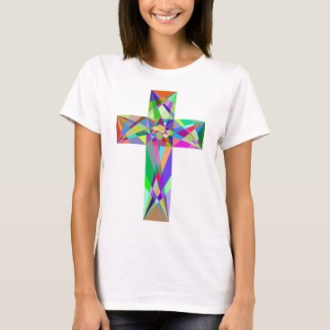 gridly Prismatic Geometric Cross T-Shirt