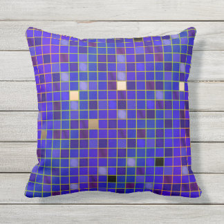 Prismatic Look Checked Grid Pillow - Blue Cobalt