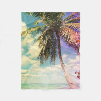 Prismatic Palm Fleece Blanket