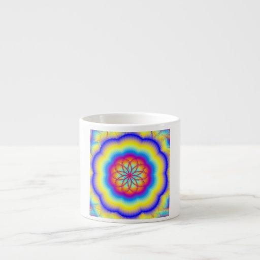 Prismatic Rainbow Espresso Mug 6 Oz Ceramic Espresso Cup