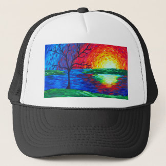 Prismatic Sunrise Trucker Hat