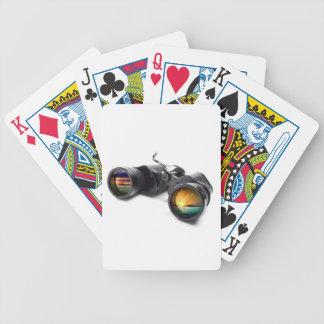 Prismáticos conceptuales barajas de cartas