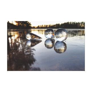 Prisms on ice canvas print
