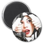 prison 2 inch round magnet