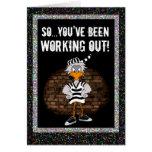 Prison card: Work out jailbird