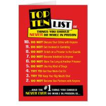 Prison Cards - Top Ten