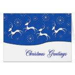 christmas, greetings, reindeer, snow., merry,