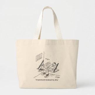 Prison Cartoon 3826 Large Tote Bag