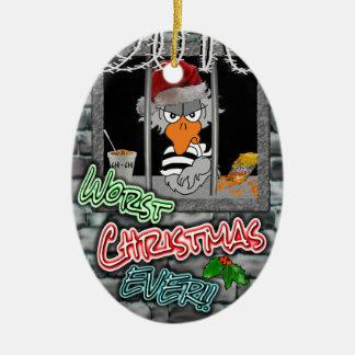 Prison Christmas Ornament: Worst Christmas Ever!